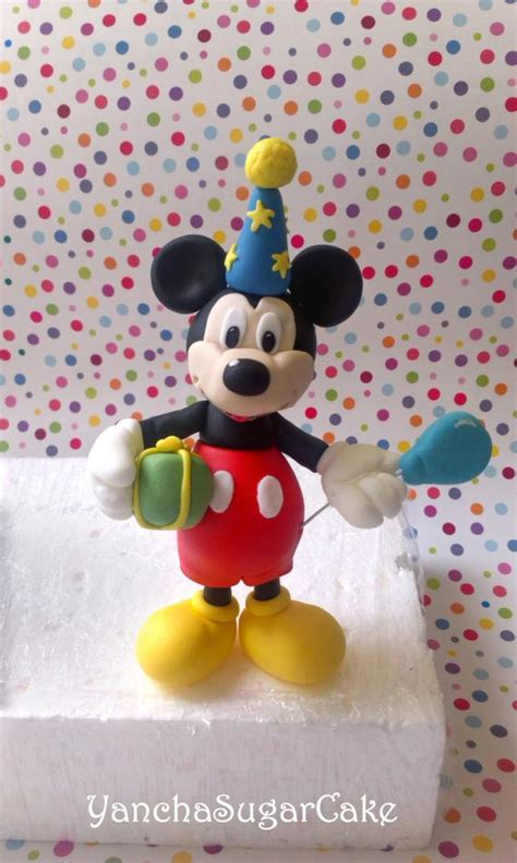 fondant edible mickey mouse  figure cake topper clubhouse