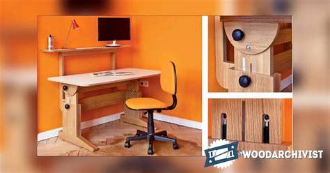 study desk plans woodarchivist