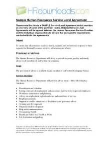 Hr Service Level Agreement Template by 8 Best Images Of Sla Service Level Agreement Sle