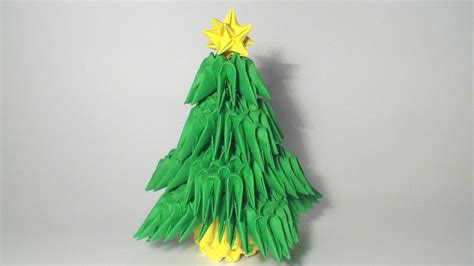 Tree Origami 3d - 3d origami mini tree tutorial