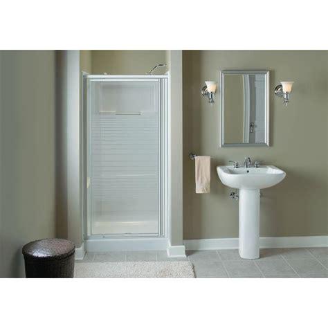 sterling pivot shower door sterling standard 36 in x 64 in framed pivot shower door