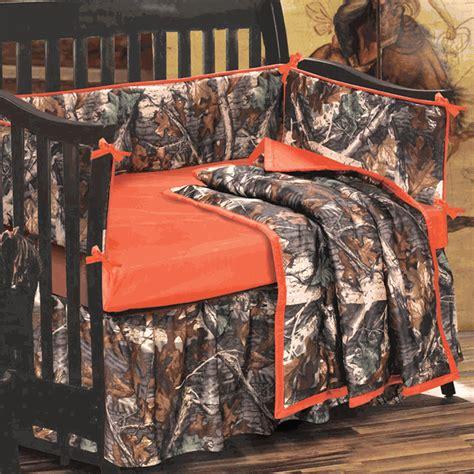 Realtree Camo Crib Bedding Set Camo Bedding 4 Orange And Camo Crib Set Camo Trading