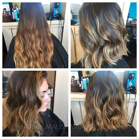before and after long hair to lob before after long summer ombre to lob longbob
