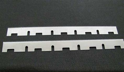 harris pattern works inc cut off knives perf knives segments tooth pattern