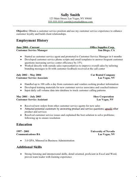customer service resume words resume ideas