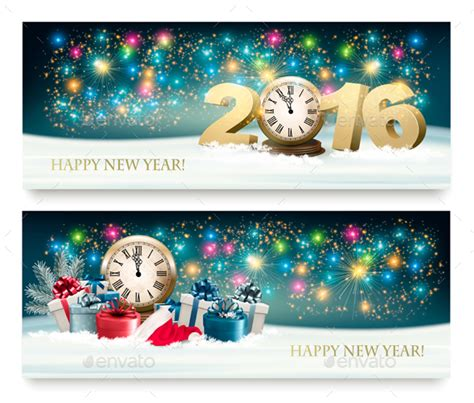 happy new year 2016 banner happy new year banners with 2016 by almoond graphicriver