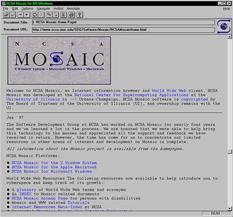Ncsa 30 Ncsa Mosaic Is Released Ncsa Email Template
