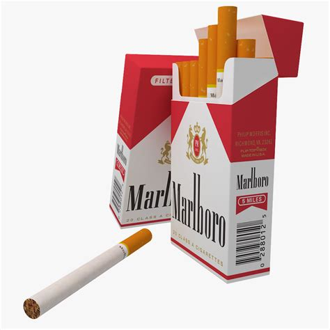 Fake Tree by Marlboro Cigarette Pack V2 3d Model Max Obj C4d Cgtrader Com