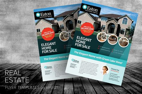 real estate marketing flyers templates real estate flyer templates by kinzi21 on creative market