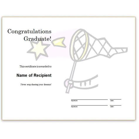 congratulations certificate template word microsoft word certificate templates free
