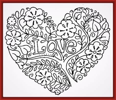 imagenes de amor para dibujar a lapiz corazones dibujos de corazones para colorear de amor archivos