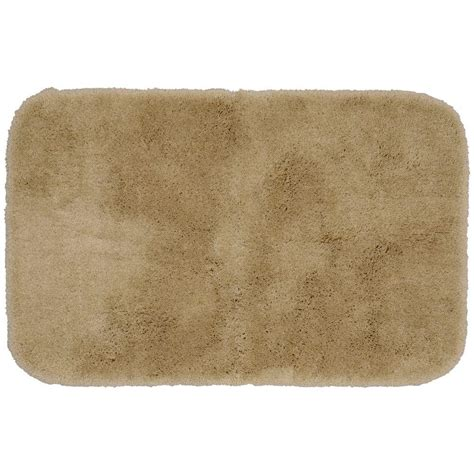 Garland Rug Finest Luxury Taupe 24 In X 40 In Washable Luxury Bathroom Rug