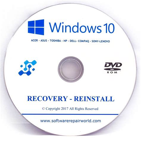 asus recovery dvd disk  windows  home