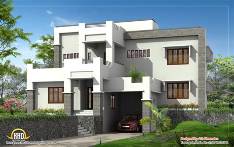contemporary house elevation design g 1 modern home elevation 2995 sq ft kerala home design and floor plans