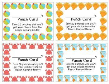 Punch Card Template For School by 17 Best Images About Sticker Charts On