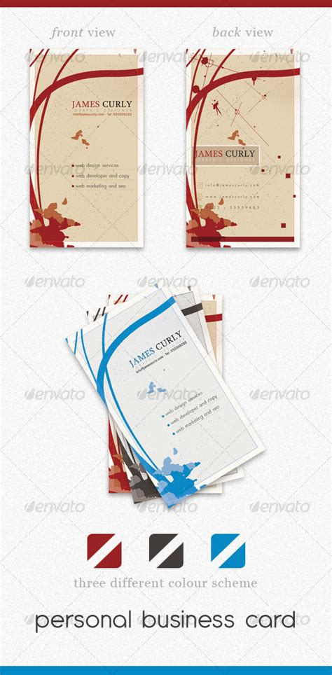 personal cards templates psd personal business card psd graphicriver
