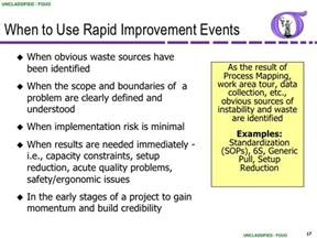 rapid improvement event template ng bb 50 rapid improvement event