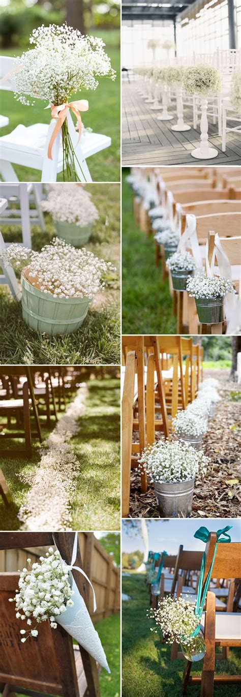 Wedding Aisle Flower Decorations by Save Your Budget On Weddings With 45 Baby S Breath Ideas