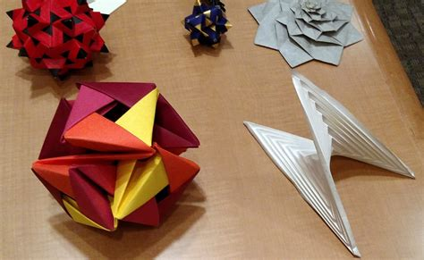 Origami Mathematical Models - the mathematical tourist folding math