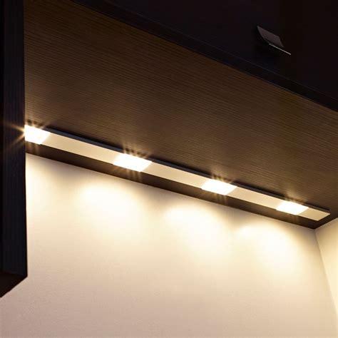 quadra u led under cabinet light sensio furniture lighting solutions