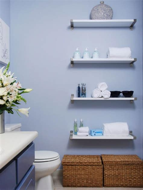 bathroom shelf decorating ideas decorating with floating shelves hgtv
