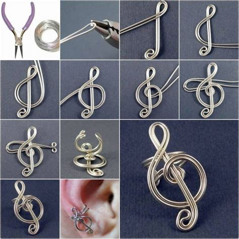 wire craft projects diy craft project treble clef ear cuff find