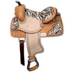 Zebra print pony saddle 638712 horse tack and that clippers usa