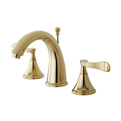 polished brass bathroom faucets widespread shop elements of design century polished brass 2 handle