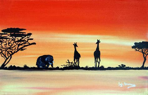 Plan B by Peintures Acryliques Afrique De Sylvie Bruneau Artiste