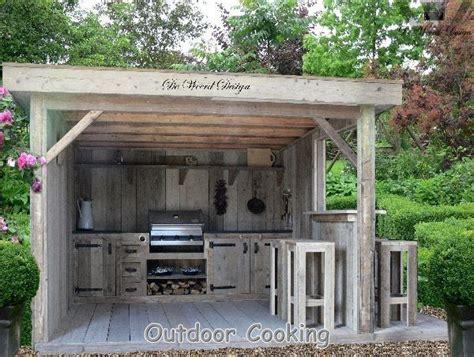 outdoor rustic outdoor kitchen designs cottage kitchens buitenkeuken pinteres