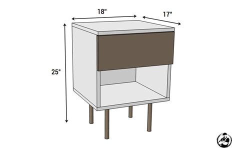 bedside table dimensions mid century modern side table free plans rogue engineer