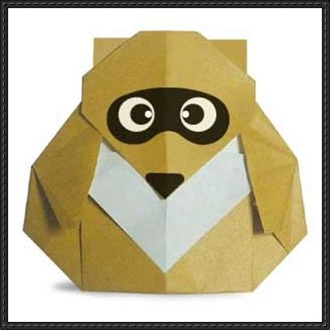 Origami Raccoon - papercraftsquare new paper craft how to make a