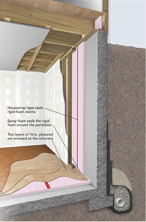 should i cut air space in my basement foam board