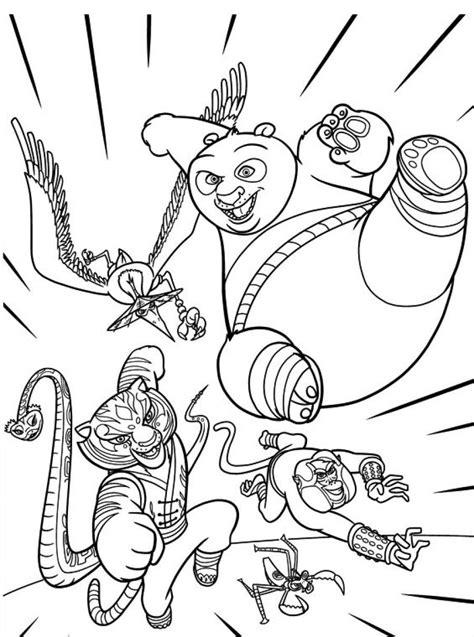 Kung Fu Panda - Desenhos para Colorir