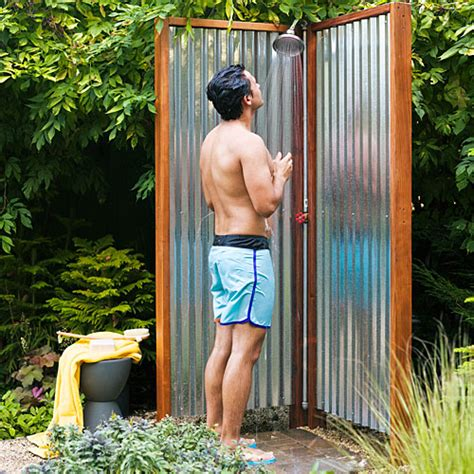 how to make an outdoor bathroom how to build an outdoor shower sunset