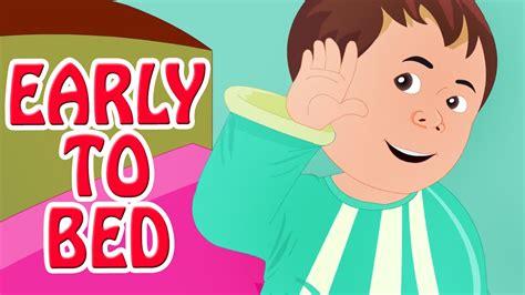 early to bed early to bed early to rise animated nursery rhyme in