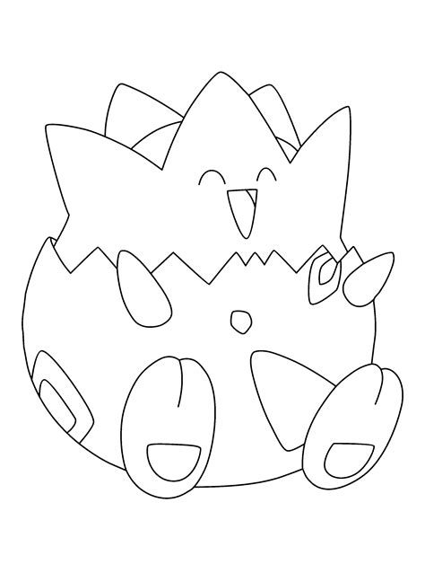 pokemon togepi coloring pages