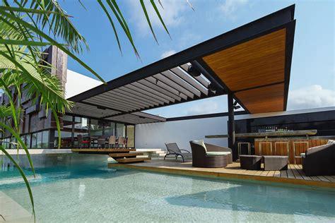 Vista Awnings Captivating Contemporary Residence In Merida Yucatan Mexico