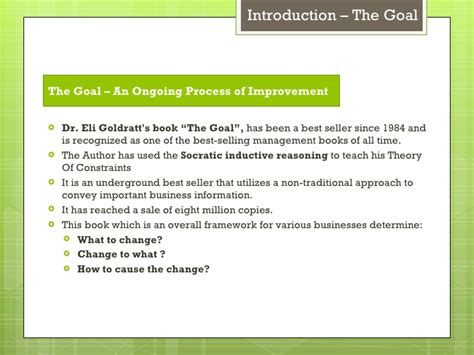 the goal book report the goal by eliyahu goldratt book report mfawriting683