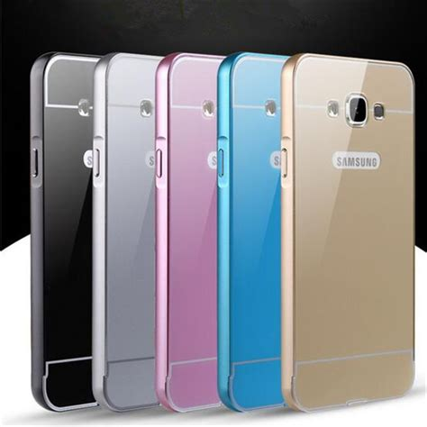 Samsung Grand Prime G530w Aluminium Metal Bumper Tempered Glass plastic for samsung galaxy j5 back cover aluminum