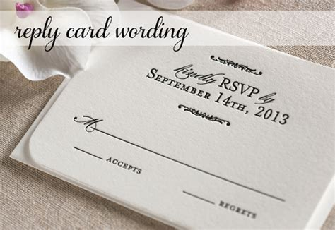 Formal Wedding Invite Response Card by Response Card Wording For Wedding Invitations