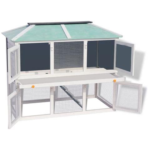 gabbia in legno per conigli vidaxl gabbia in legno a due piani per conigli vidaxl it