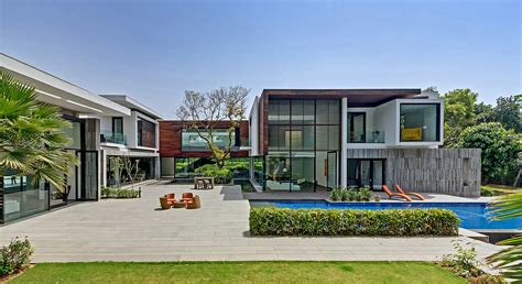 n85 residence in new delhi india new delhi custom home in a lush setting with spacious