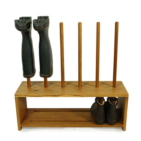 shoe boot storage oak wellington and shoe rack 3 pair