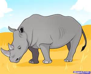 how to draw a realistic rhino how to draw a rhino step by step great plain animals