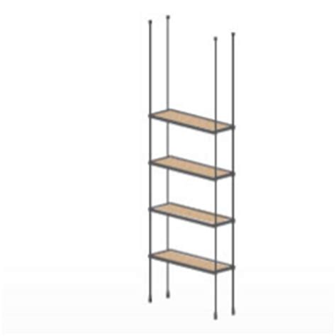 floor to ceiling shelves ceiling floor cable wood shelving kit 4 shelves suspended wire display shelves for retail