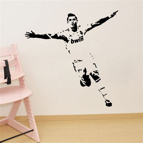 soccer decals for bedroom soccer wall sticker football player decal sports decoration mural for boys kids room