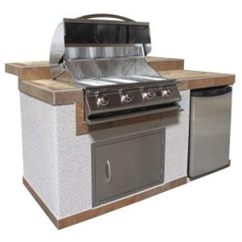 Small Patio Gas Grill Home Depot Cal 6 Ft Pavilion Outdoor Kitchen Island With 4