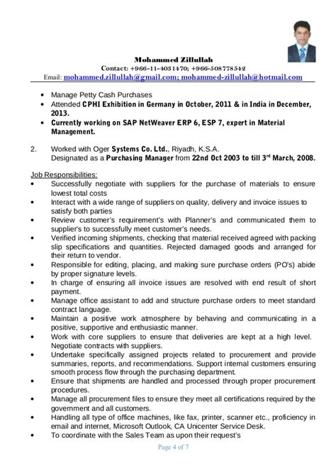 Purchasing Manager Resume by Procurement Manager Resume