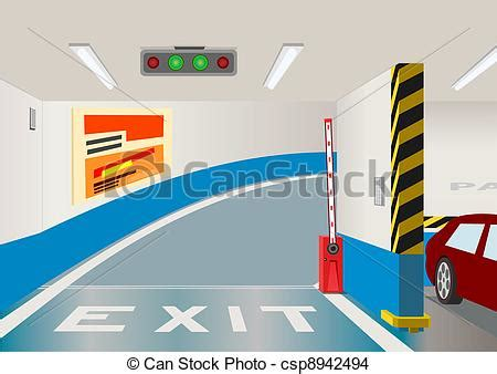 House Plans With Basement Garage Eps Vector Of Underground Parking Garage Vector